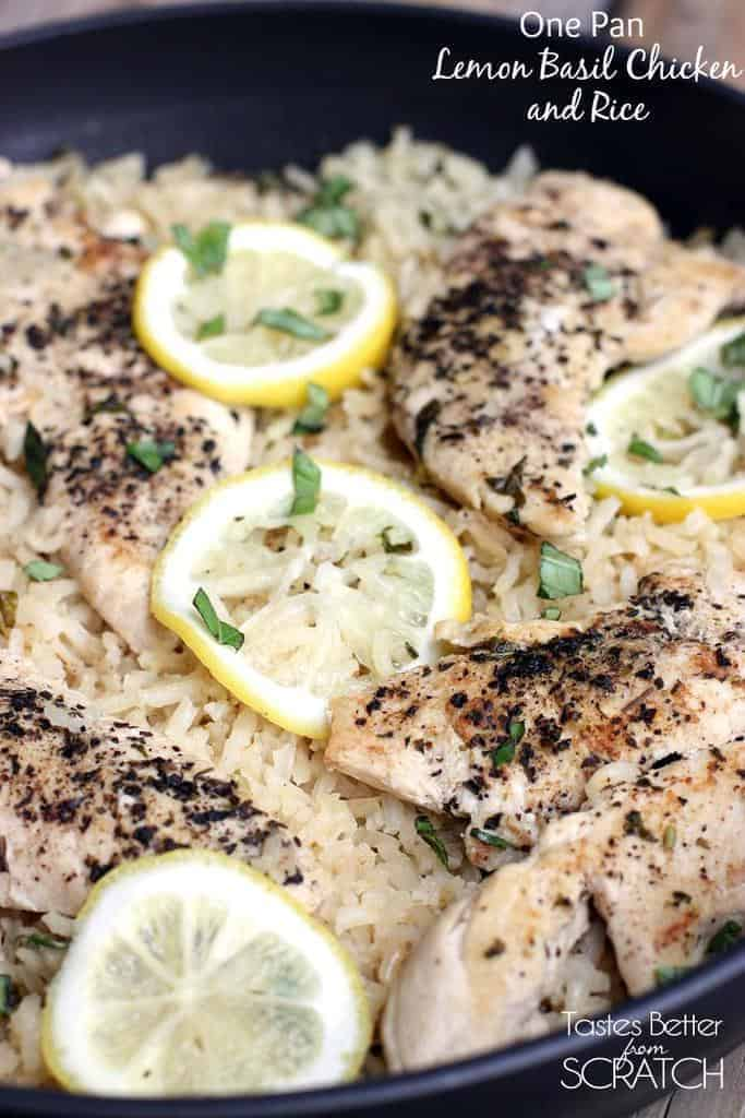 One Pan Lemon Basil Chicken And Rice Tastes Better From