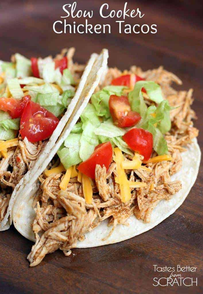 Aug 30,  · Place chicken breasts in the bottom of your slow cooker. Sprinkle taco seasoning over the top, then cover with salsa, lime juice, and cilantro. Place lid on top and cook for four hours on high, or hours on low.5/5(34).