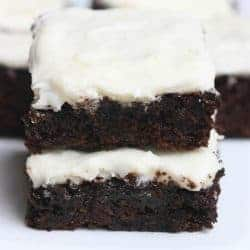 Zucchini Brownies with Cream Cheese Frosting from TastesBetterFromScratch.com