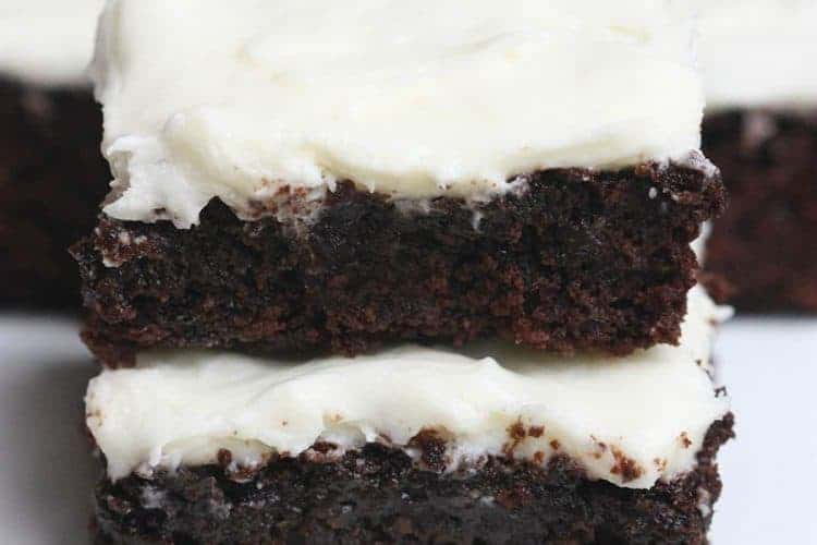 Zucchini Brownies with Cream Cheese Frosting