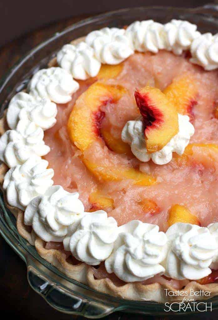 Fresh Peach Pie recipe on TastesBetterFromScratch.com