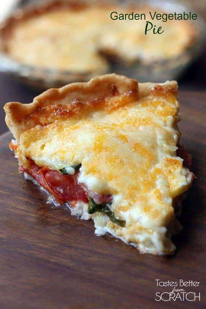 Garden Vegetable Pie on TastesBetterFromScratch.com