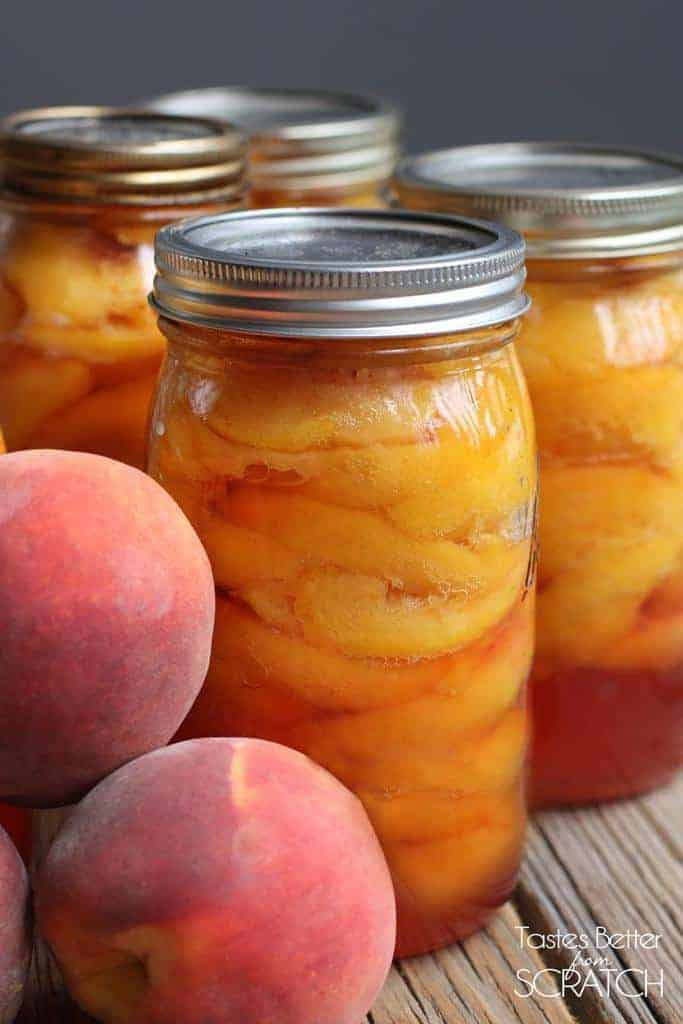 How to Can Peaches, from TastesBetterFromScratch.com