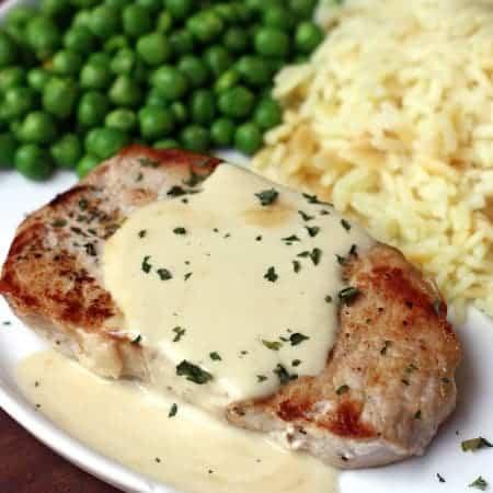 Pork Chops with Creamy Mustard Sauce
