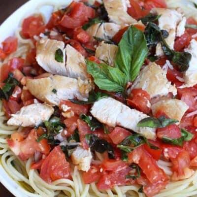 Tomato Basil Chicken Pasta