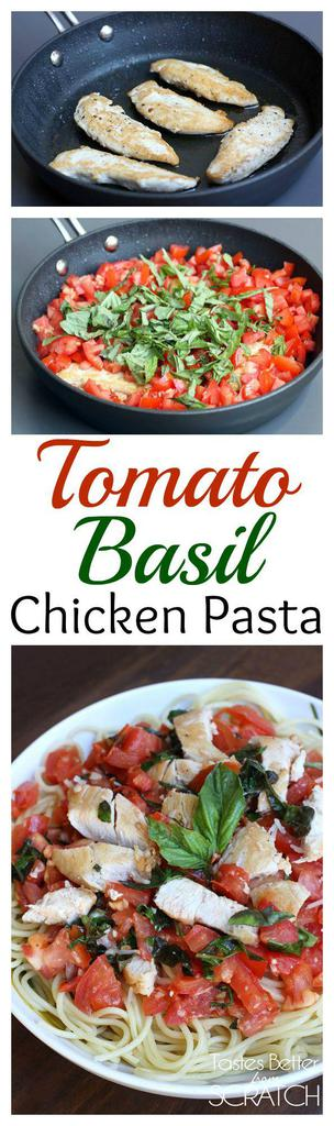 Tomato Basil Chicken Pasta recipe from Tastes Better From Scratch