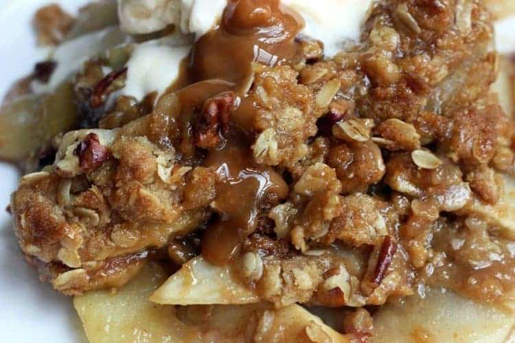 Caramel Pecan Apple Crisp recipe from Tastes Better From Scratch