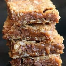 Chewy Chocolate Caramel Bars from TastesBetterFromScratch.com