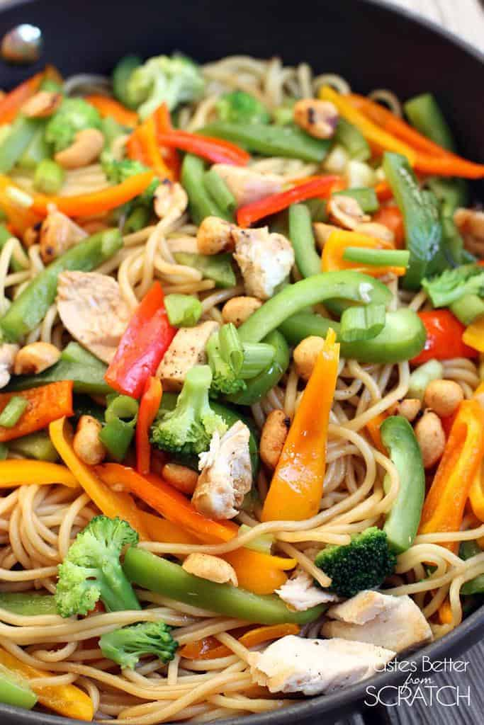 Kung Pao Noodle Stir-Fry recipe from Tastes Better From Scratch