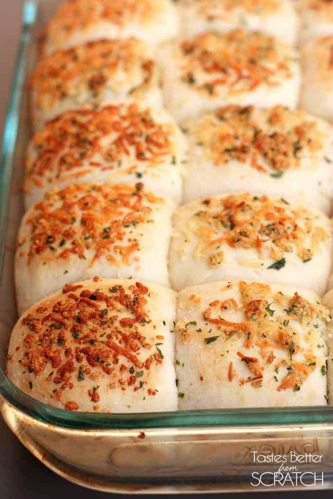 One-Hour Garlic Parmesan Rolls