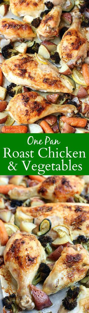 One Pan Roast Chicken and Vegetables recipe from Tastes Better From Scratch