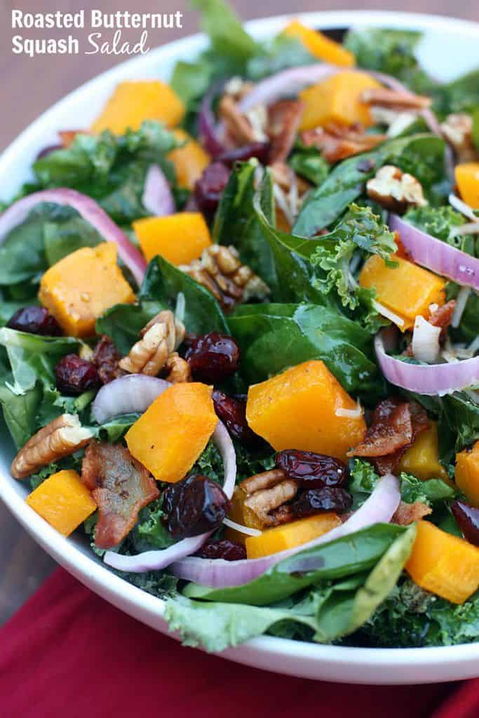 Roasted Butternut Squash Salad recipe from TastesBetterFromScratch.com