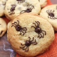 Chocolate Chip Spider Cookies are the perfect easy Halloween treat! | tastesbetterfromscratch.com
