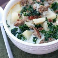 Creamy Zuppa Toscana soup recipe from Tastes Better From Scratch