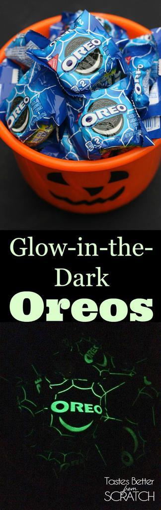 Glow-in-the-dark Oreo 2-packs make the perfect Halloween treat!