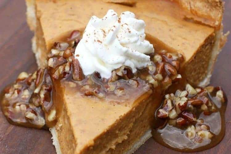 Pumpkin Pie with Caramel Pecan Topping | Tastes Better From Scratch