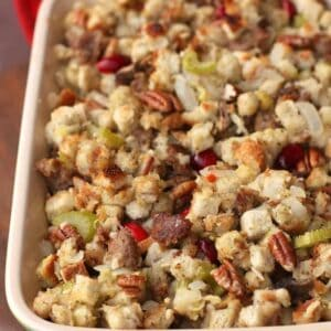 Sausage Cranberry Pecan Stuffing   Tastes Better From Scratch
