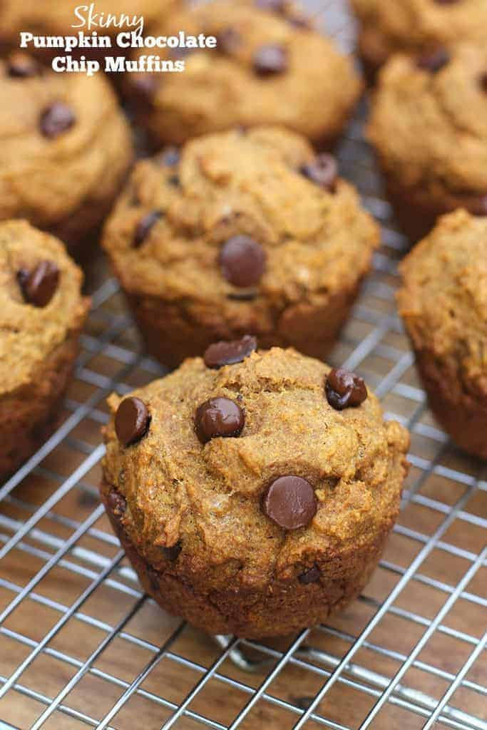 Skinny Pumpkin Chocolate Chip Muffins Tastes Better From