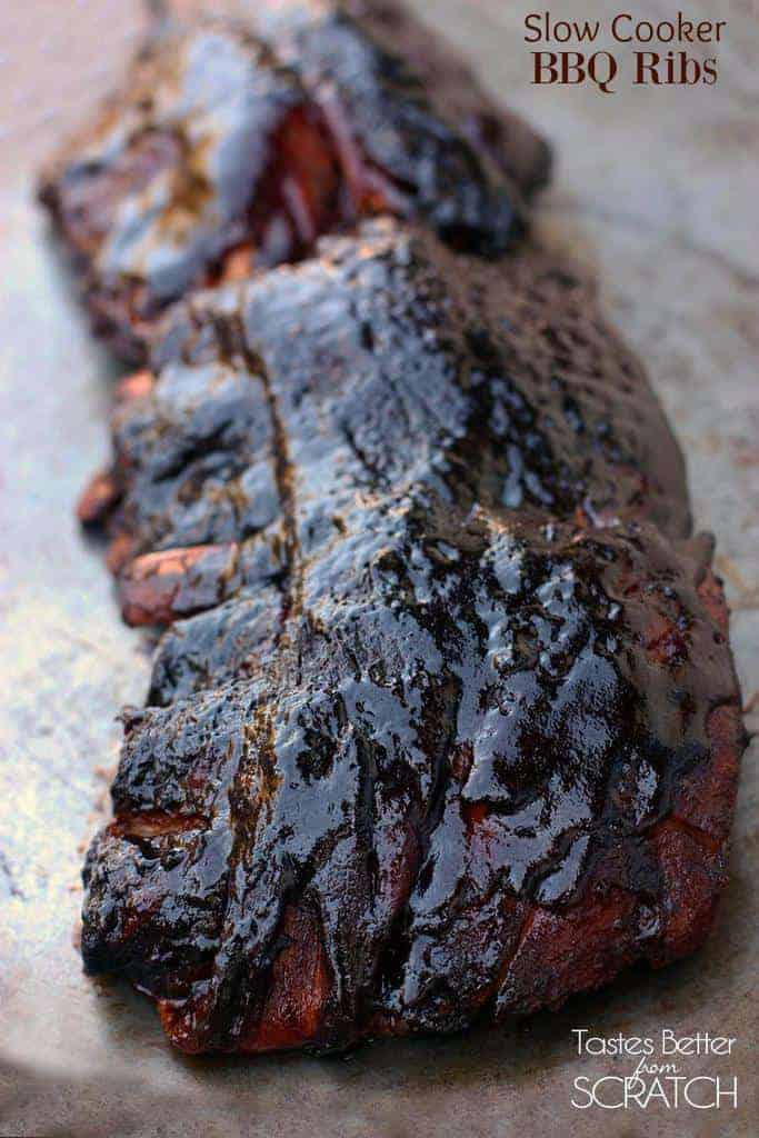 Slow Cooker BBQ Ribs   Tastes Better From Scratch