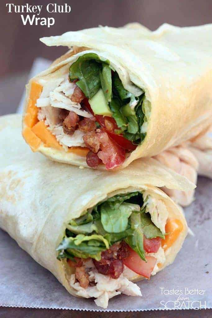 Turkey Club Wrap Tastes Better From Scratch