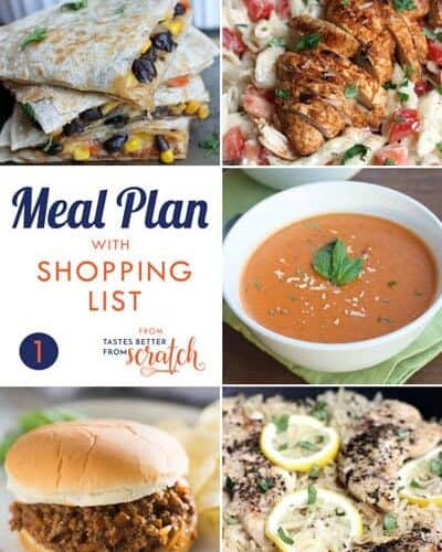 Using a weekly meal plan is the best way to cook healthier for your family, save money, and time! Browse all of my free meal plans which include a grocery shopping list and tons of meal planning ideas including healthy and kid-friendly meals.