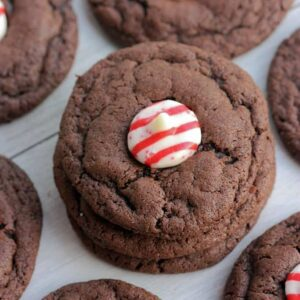 Chocolate Peppermint Kiss Cookies   Tastes Better From Scratch