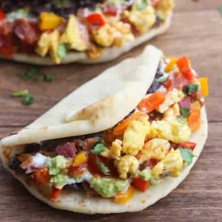 Seven Layer Breakfast Tacos
