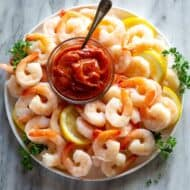 3 ingredient SHRIMP COCKTAIL SAUCE that's easy and amazing homemade. You won't buy it from the store ever again!