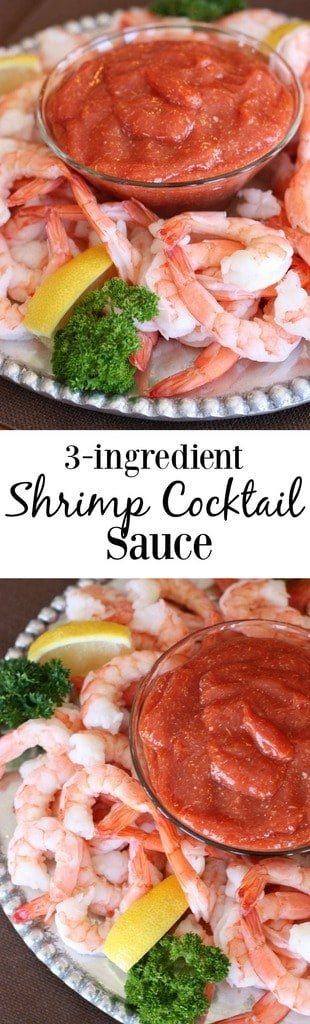 3-ingredient SHRIMP COCKTAIL SAUCE that's easy and amazing homemade. You won't buy it from the store ever again! | Tastes Better From Scratch
