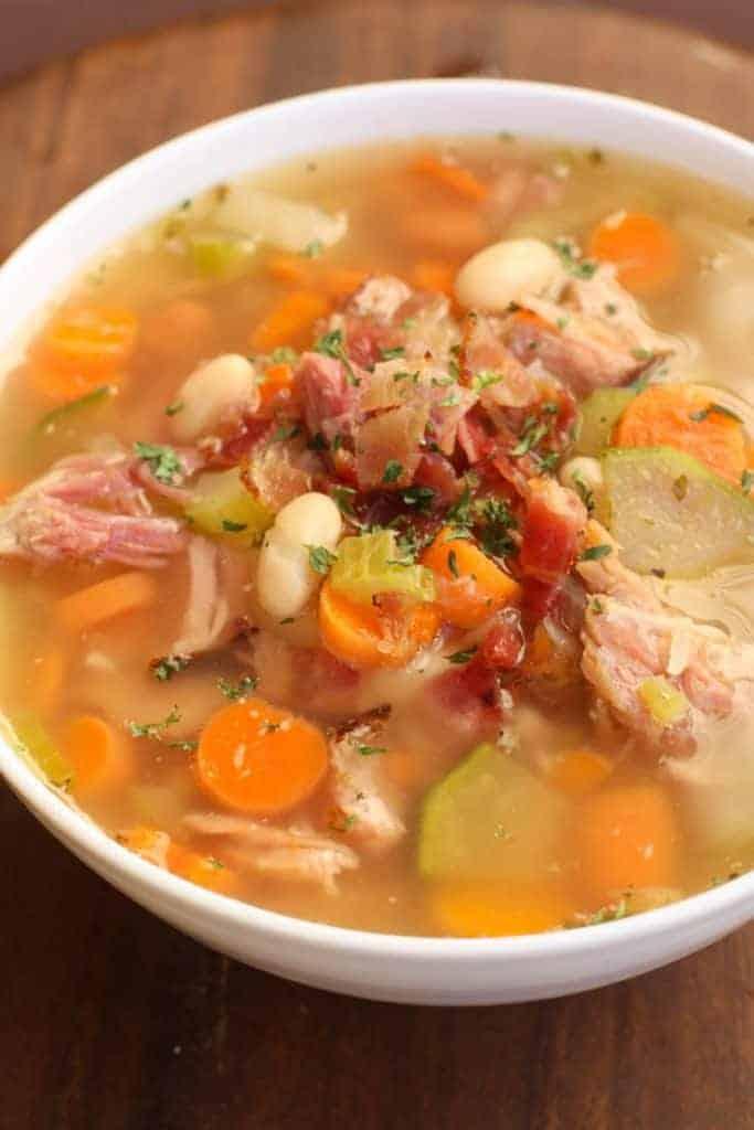 Slow Cooker Leftover Ham Bone Soup | Tastes Better From Scratch