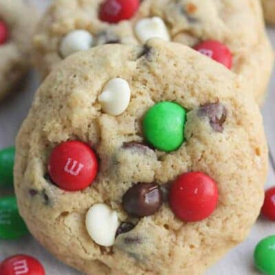 Soft and Chewy Triple Chocolate M&M Cookies