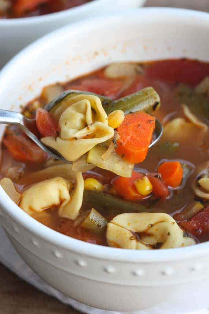 Vegetable Tortellini Soup   a warm, healthy and hearty soup with tons of veggies and great flavor.   Tastes Better From Scratch