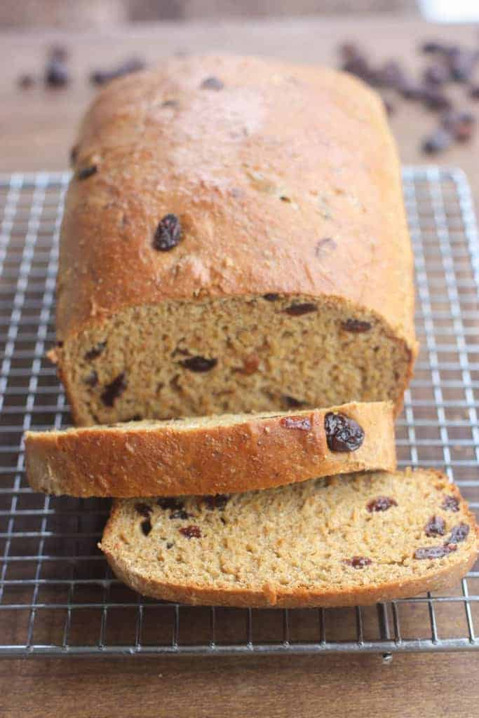This Healthy Raisin Bread is the BEST! It bakes perfectly and is packed with fiber, protein and whole grains. | Tastes Better From Scratch