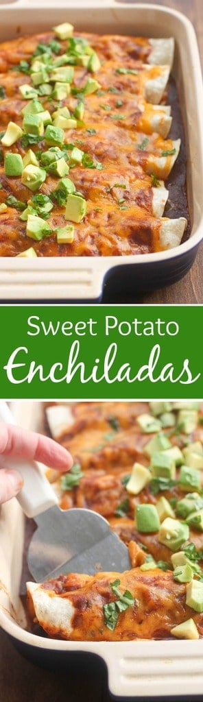 Sweet Potato and Black Bean Enchiladas - an easy, healthy dinner your ...