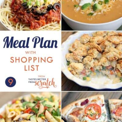 Weekly Meal Plan #9 and Printable Shopping List