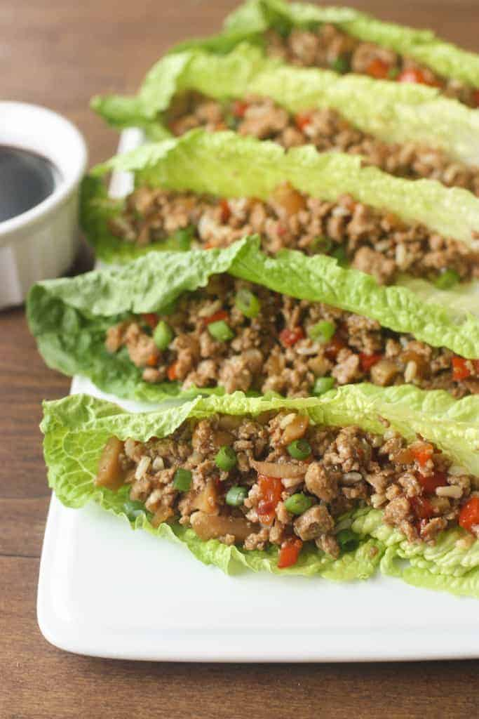 Asian Turkey Lettuce Wraps - packed with flavor and absolutely delicious. An easy dinner you can make in less than 30 minutes! | Tastes Better From Scratch