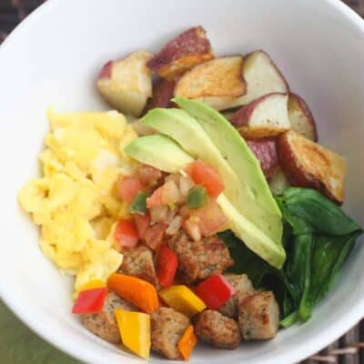 Egg and Sausage Brinner Bowls