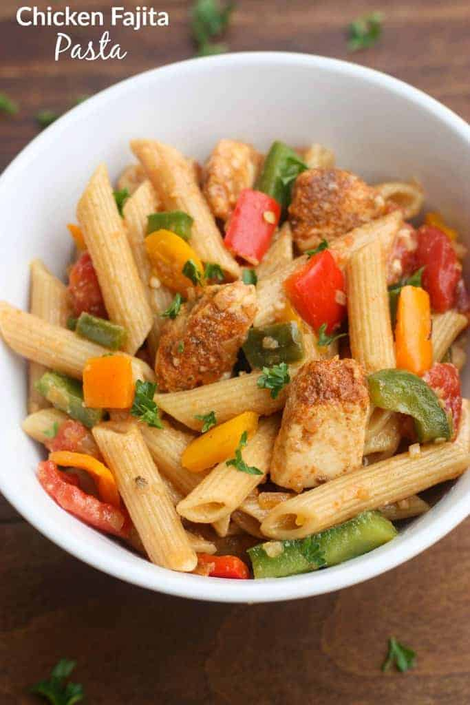 Chicken Fajita Pasta - everything you love about fajitas, transformed into a bold and delicious pasta dish!   Tastes Better From Scratch