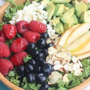 Berry Almond Avocado Salad with Poppyseed Dressing   Tastes Better From Scratch