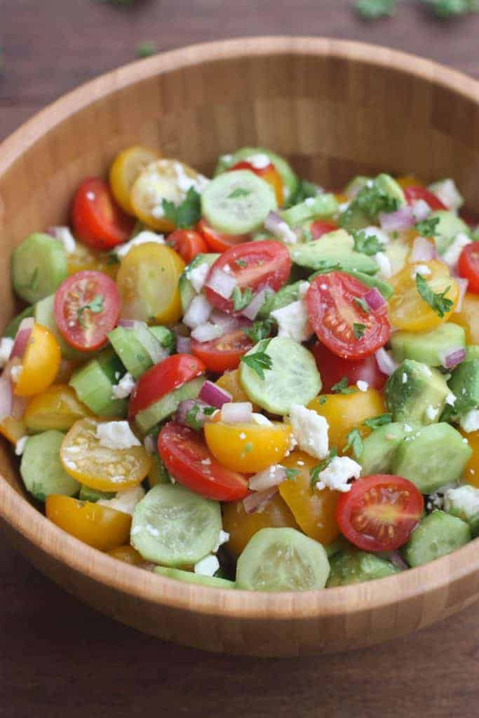 Tomato Cucumber Avocado Salad | Tastes Better From Scratch