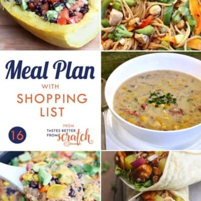 Weekly Meal Plan #16 and Printable Shopping List