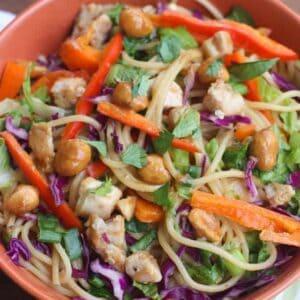 Thai Peanut Chicken Pasta   Tastes Better From Scratch
