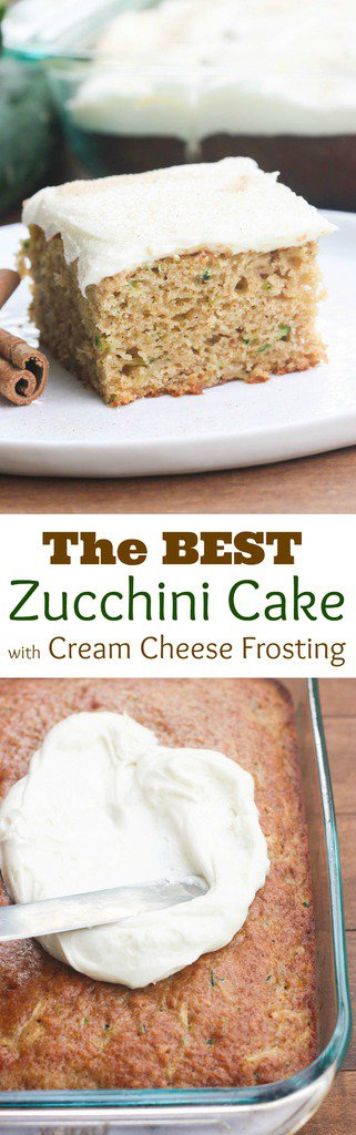 The BEST Zucchini Cake with Cream Cheese Frosting   Tastes Better From Scratch