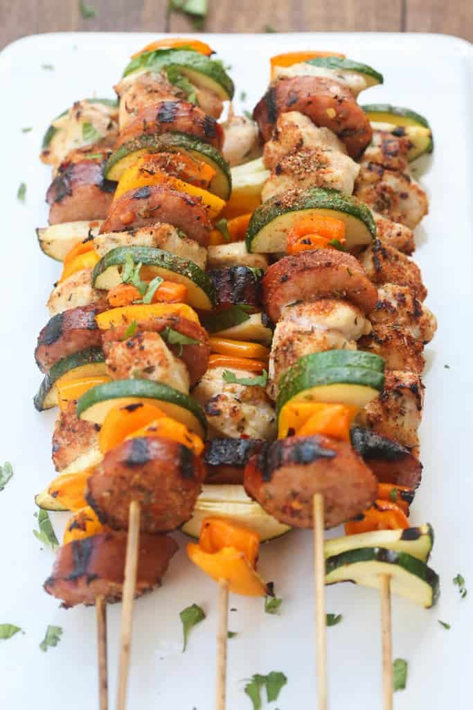 Cajun Chicken and Sausage Kebabs | Tastes Better From Scratch