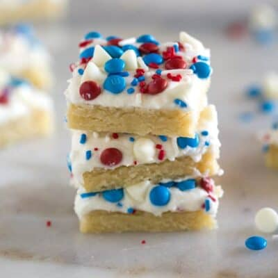 Patriotic Sugar Cookie Bars