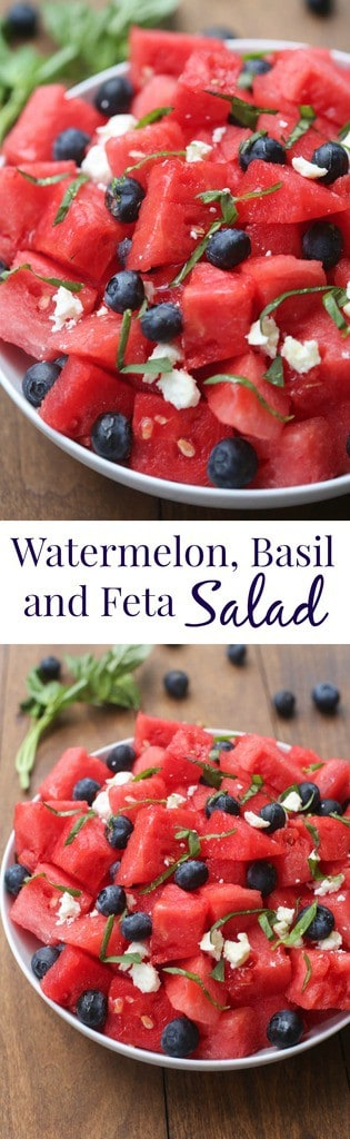 Watermelon, Basil and Feta Salad | Tastes Better From Scratch