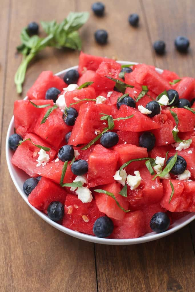Watermelon, Basil, Feta Salad | Tastes Better From Scratch