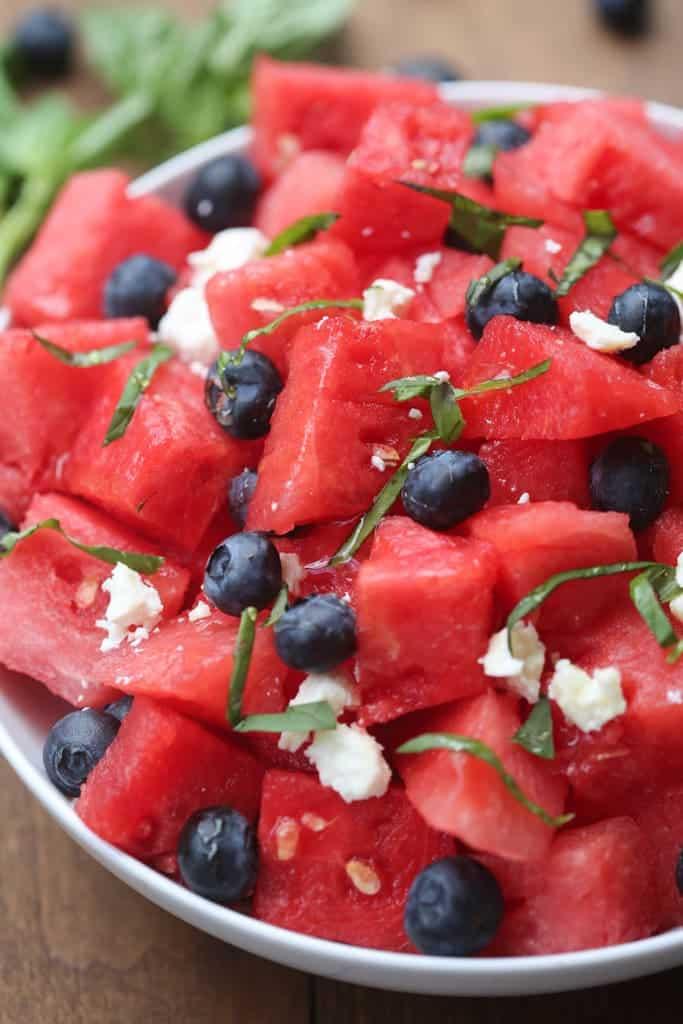 Watermelon, Basil, Feta Salad | Tastes Better From Scratch