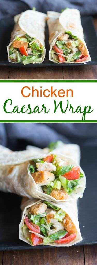 Chicken Caesar Wraps make a great easy dinner your family will love! Fridge to table in just 15 minutes! | Tastes Better From Scratch