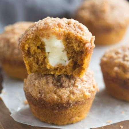 The BEST Pumpkin Cream Cheese Muffins! Better than the bakery and one of my favorite pumpkin muffins of all time!   Tastes Better From Scratch